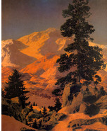 New Hampshire Winter 30x44 Maxfield Parrish Art Deco Hand Numbered Edition - $99.98
