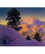 Winter Sunrise 30x44 Maxfield Parrish Art Deco Print Hand Numbered Edition - $99.98