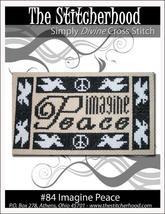Imagine Peace doves primitive cross stitch chart The Stitcherhood - $7.20