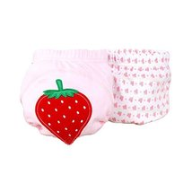 Lovely Red Strawberry Baby Elastic Cloth Diaper Cover (M, 9-11KG)