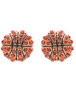 Sport Basketball Crystal Rhinestone 14mm Drop S... - $10.85