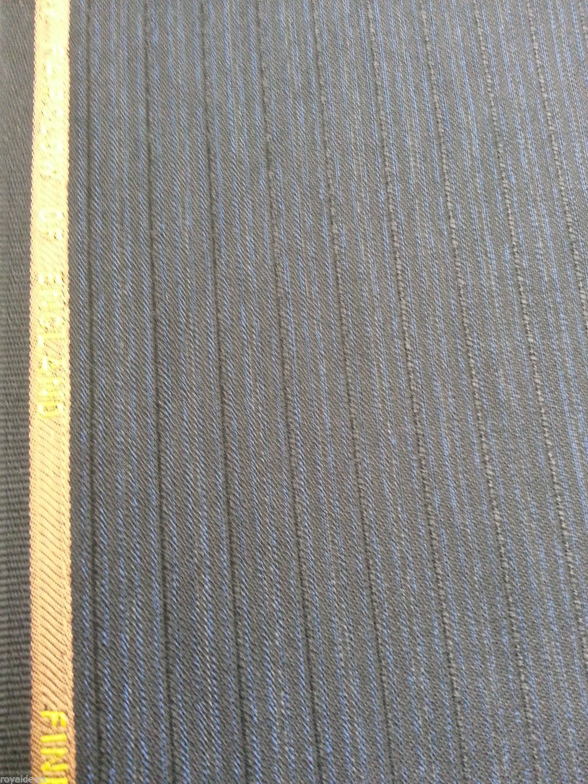 13 Yard Super fine Blue Black 120'S English wool suit fabric By Fairglow