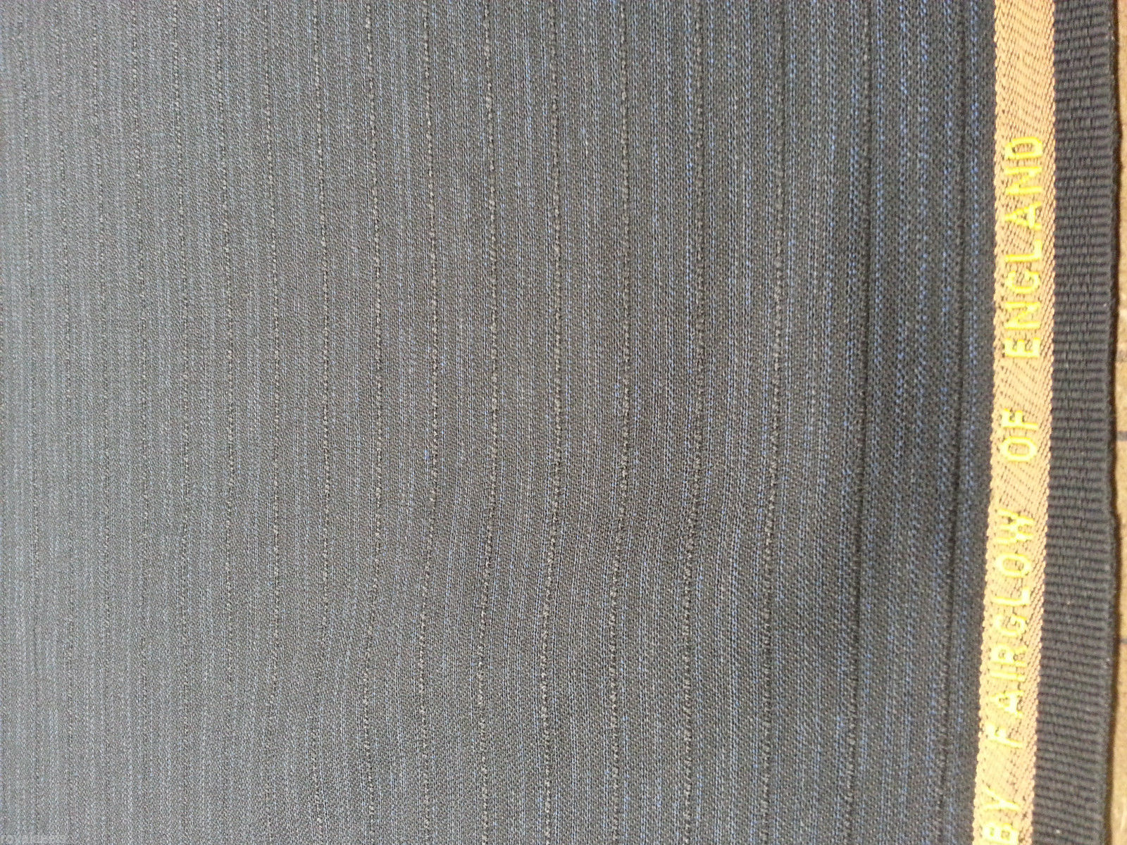 Superfine Blue Black English wool Suiting Fabric for men and women 9+ Yards