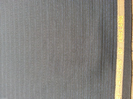 Superfine Blue Black English wool Suiting Fabric for men and women 9+ Yards - $93.94