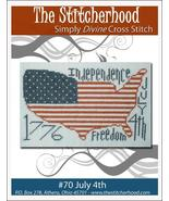 July 4th USA primitive cross stitch chart The Stitcherhood - $7.20