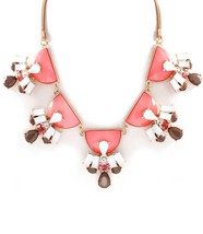 Coral Dove Gray Brown Celebrity Inspired Chunky Statement Necklace - $16.79
