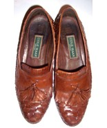 Cole Haan Men's leather loafers Orange Tan Brow... - $64.89