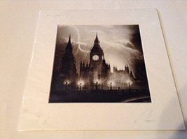 London England Black and White Photo Lightning Storm [Poster] by JUREK NEMS - $50.00