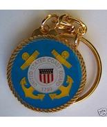 Gold Plated Coast Guard Key Ring Keychain Military Gift - $4.50