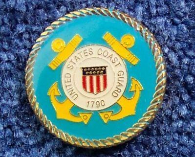 Gold Plated Coast Guard Magnet Military Patriotic Gift