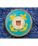 Gold Plated Coast Guard Magnet Military Patriotic Gift - $8.00