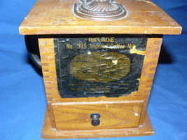 1880 Arcade No. 999 Cast Iron and Wood Imperial Coffee Mill - $300.00