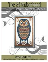 Odd Owl primitive cross stitch chart The Stitcherhood - $7.20