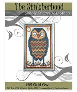 Odd Owl primitive cross stitch chart The Stitcherhood - $7.20