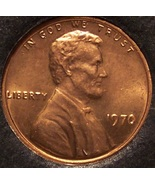 1970 Lincoln Memorial Penny Choice BU RED #0060 - $0.89