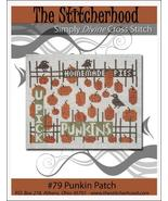 Punkin Patch autumn fall thanksgiving primitive cross stitch chart The S... - $7.20