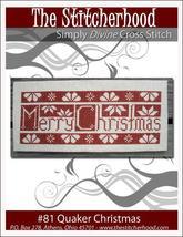 Quaker Christmas primitive cross stitch chart The Stitcherh - $7.20