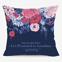 LEIOH Only the Best Moms Get Promoted to Grandma Cute Flower Blue (Grandma) - $21.30