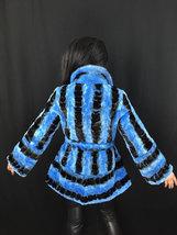 Luxury gift/ Blue/black /Mink fur coat/ Wedding,or anniversary present image 4