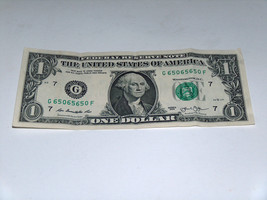 2013 $1 One Dollar Bill US Note 65's 50's & 0's 65065650 Fancy Serial Number - $12.95