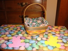 Longaberger 1998 Small Stained Easter Basket - $22.49