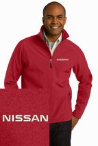 NISSAN Red Embroidered Port Authority Core Soft Shell Unisex Jacket NEW - $39.99