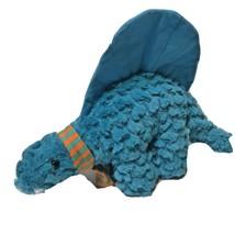 Manhattan Toy Company Orange Blue Dinosaur Plush Stuffed Animal Toy - $17.58