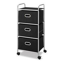3 Drawer Chest Cart Rolling Storage Home Organizer Heavy Duty Locking Wh... - $32.43