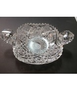 American Brilliant Period hand Cut Glass 2 handled dish - $92.57