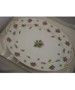 Vintage Kyoto Lancaster China made in Japan Pink roses gold metallic tri... - $9.64