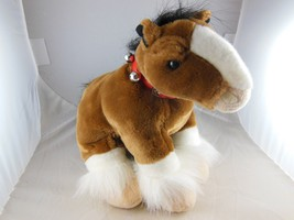 """Awesome Clydesdale Horse Pony Plush  with Bells 9""""x 11"""" + tail  Wild rep... - $14.54"""