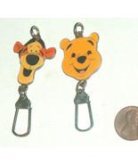 (2) Disney Winnie The Pooh & Tigger Enamel & Metal Face, Head Key Chain,... - $9.88