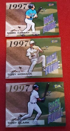 1998 Fleer Ultra Baseball Back To The Future Lot Of 3 Cards