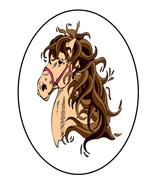 Black Circle horseLGA01ex03-Digital Download-ClipArt-ArtClip-Digital Art... - $4.00