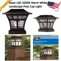 LED Outdoor Solar Light Bronze 3000K Integrated Warm Powered Post Cap La... - $36.68