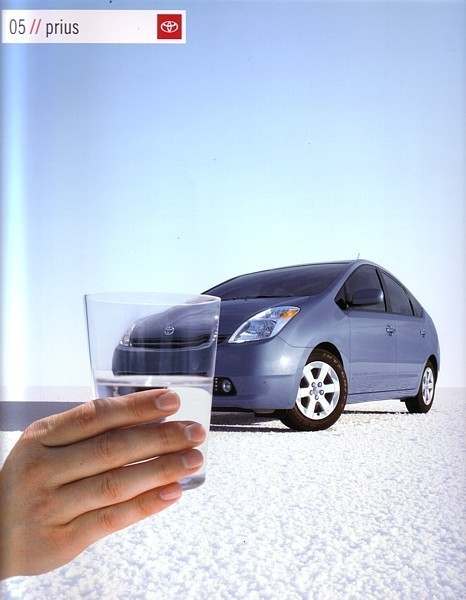 2005 Toyota PRIUS HYBRID sales brochure catalog 2nd EDITION 05 US