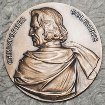 Bronze High Relief Medal - 500th Anniversary of Christopher Columbus (OB16) - $74.24