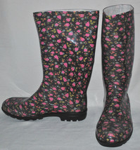 Women's Kamik Rainboots Red Roses Size 10M - $32.99