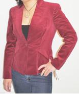 Jones New York Womens Ruby Wine Velveteen Blazer Jacket NWT $239 CARDINA... - $74.99