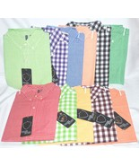 True Rock 100% Cotton Checked Gingham Lightweight  Oxford Shirt 11 COLOR... - $19.99