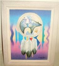 DIANA MARTIN BEAR DREAM CATCHER INDIAN ART SERIGRAPH - $386.64