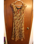 Michael Blair Designer Brown Rose Dress size 10 - $9.99