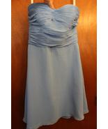David's Bridal Strapless Babydoll Blue Dress - $9.99