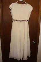 HARD to FIND RETIRED American Girl DRESS size 14 w/ Flowered Burgandy Ri... - $99.00