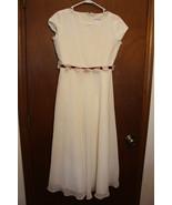 HARD to FIND RETIRED American Girl DRESS size 14 w/ Flowered Burgandy Ri... - $99.00