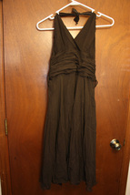 London Times Chocolate Brown Halter Dress Size 8 - $12.99