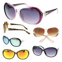 Womens Diva Ankh Jewel Hinge Round Oval Butterfly Designer Fashion Sunglasses - $7.95