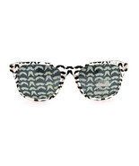 80s Pop Hipster Mustache Printed Lens Plastic Thick Horn Rim Retro Sungl... - £5.91 GBP