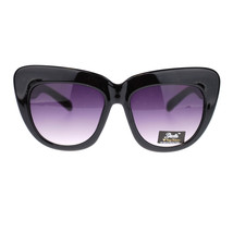Giselle Trendy Womens Nerdy Thick Plastic Oversized Cat Eye Nerdy Sunglasses - $7.95