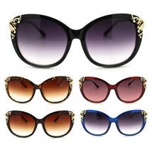 Womens Luxury Diva Rhinestone Foliage Horn Rim Plastic Butterfly Sunglasses - $9.95